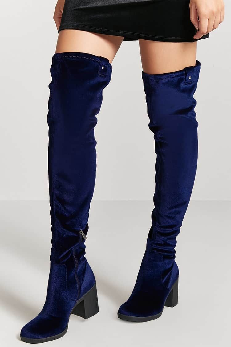 8bf7fd36c3 Forever21 Velvet Thigh High Boots Price in Egypt | Jumia | Boots ...
