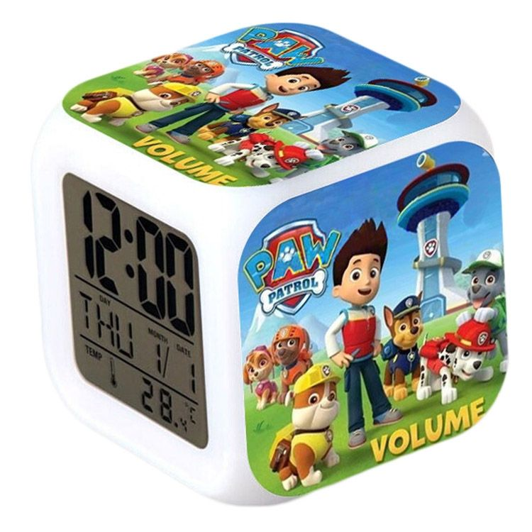 Coloring for Kids kids color changing alarm clock : Fashion New Cute Paw Patrol 7 Color Changing Night Light Alarm Clock ...