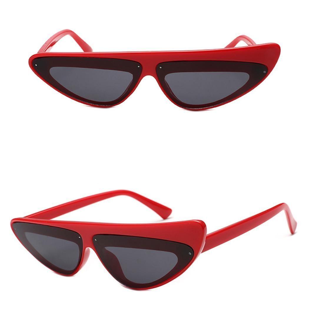 b5d56861b76 Sunshine Women Retro Plastic Frame Triangular Lens Sunglasses UV400 Sun  Glasses-Array