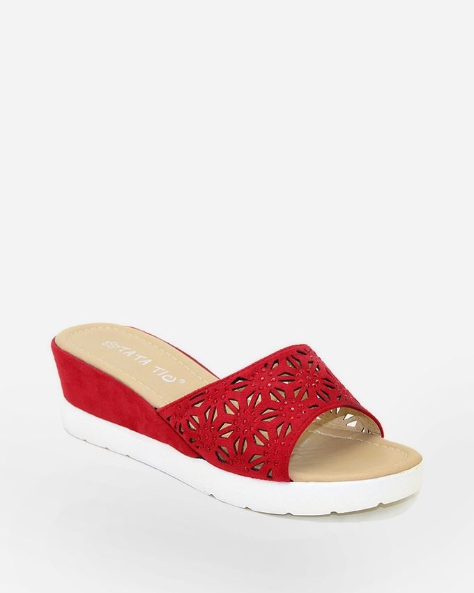Tata Tio Cut Outs Flip Flops - Red
