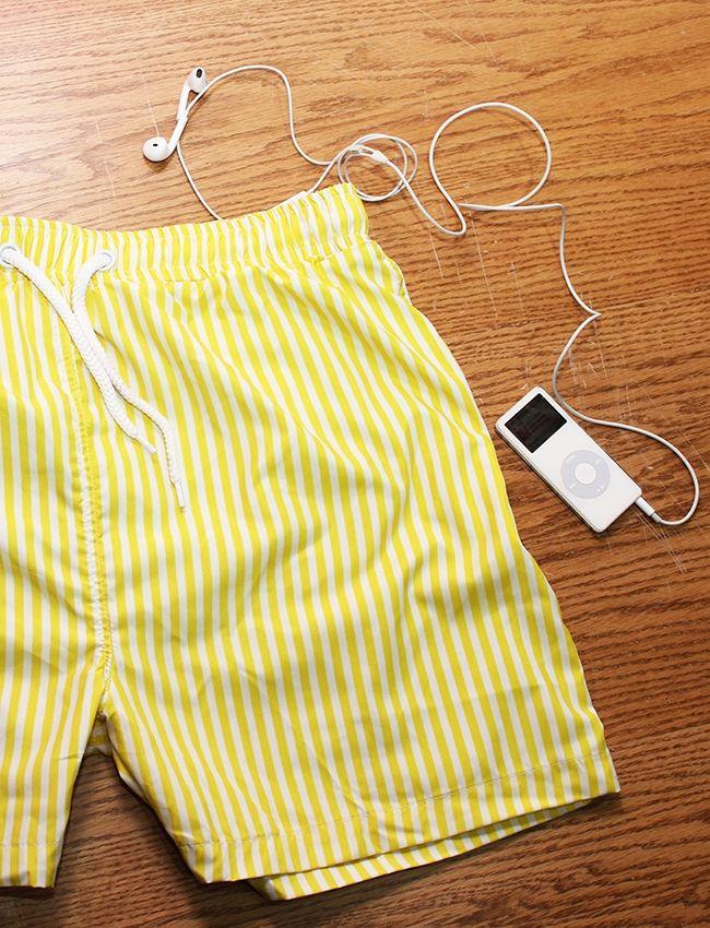 Minimum  Striped Swimtsuit - Yellow