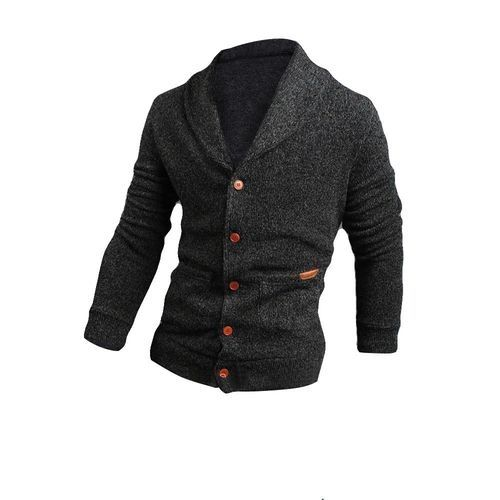 fec872b242a4 Eissely Fashion Mens Slim Fit Knitwear Pullover Sweater Jacket Coat DG L