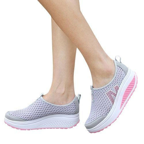 72ad38430a672c Buy Fashion Blicool Shoes Fashion Women Platform Shoes Women Loafers  Breathable Air Mesh Swing Wedges Shoe