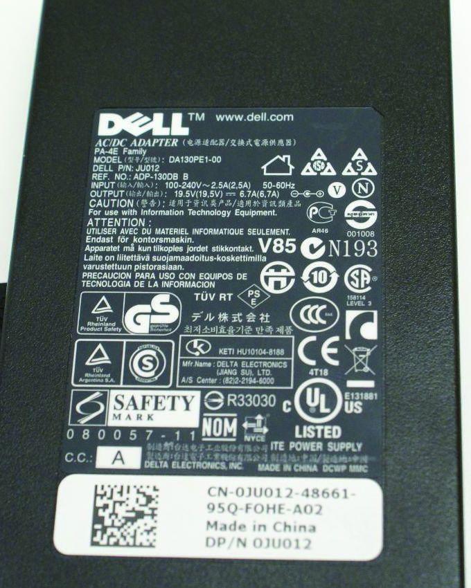 Genuine AC DC 19.5V 6.7A Laptop Power Adapter