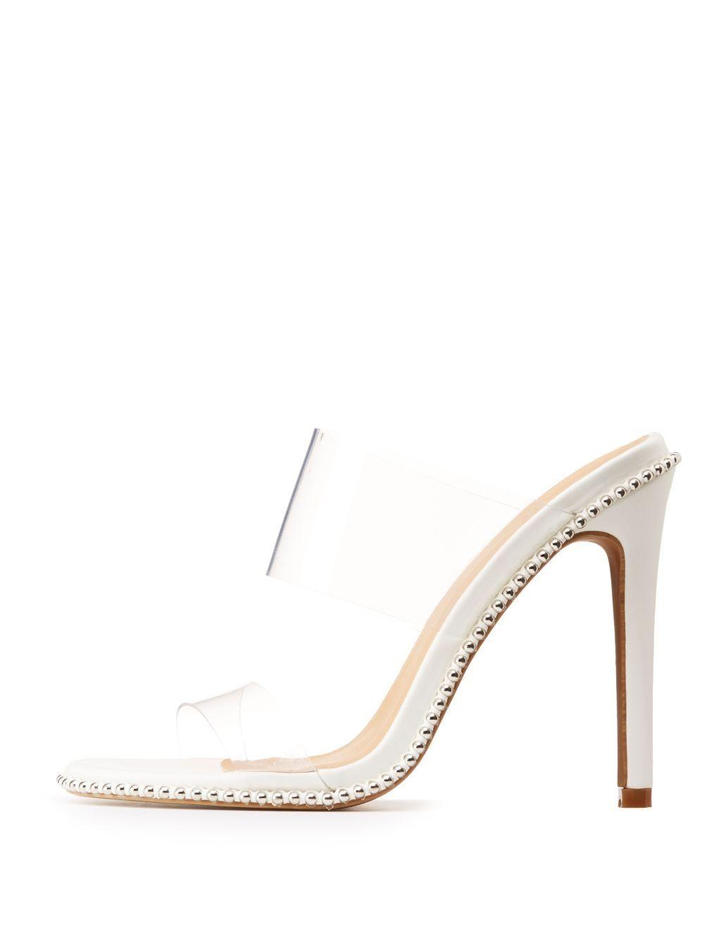 724b0eb3f7 Charlotte Russe Clear Open Toe Mules | Shoes | kanbkam.com