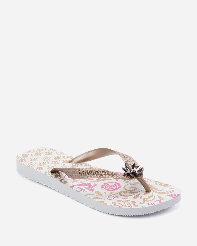 631c0ee3a33a5c Buy Havaianas Paisley Pattern Slipper - White   Gold in Egypt