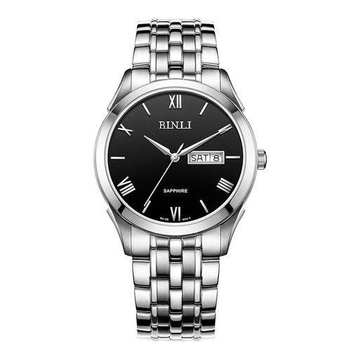 2ae9e0aa3 Louis Will Binli Watch Dial Business Men's Fashion Quartz Watch Strip  Double Waterproof Calendar's GS8021 (Black)