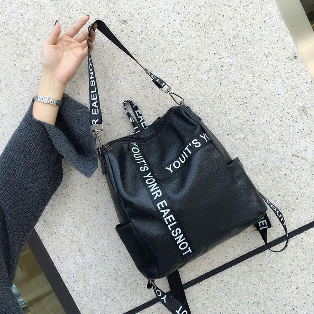 1d3bbd311db0 Buy Neworldline Women s Preppy Style Letter Strap School Bag Travel Backpack  Bag-Black in Egypt