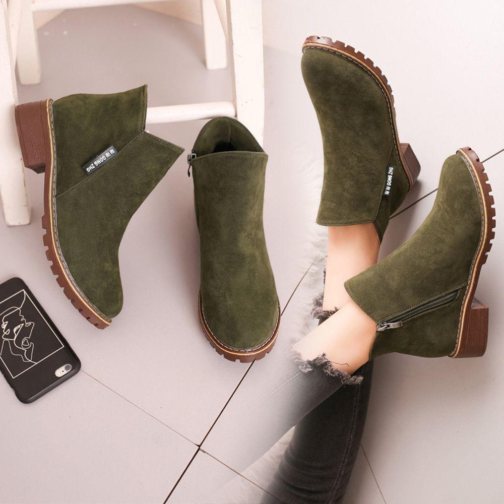 b47218cf5d9 Buy Neworldline Womens Martin Boots Thick With Boots Winter Women Martin  Boots AG 35-