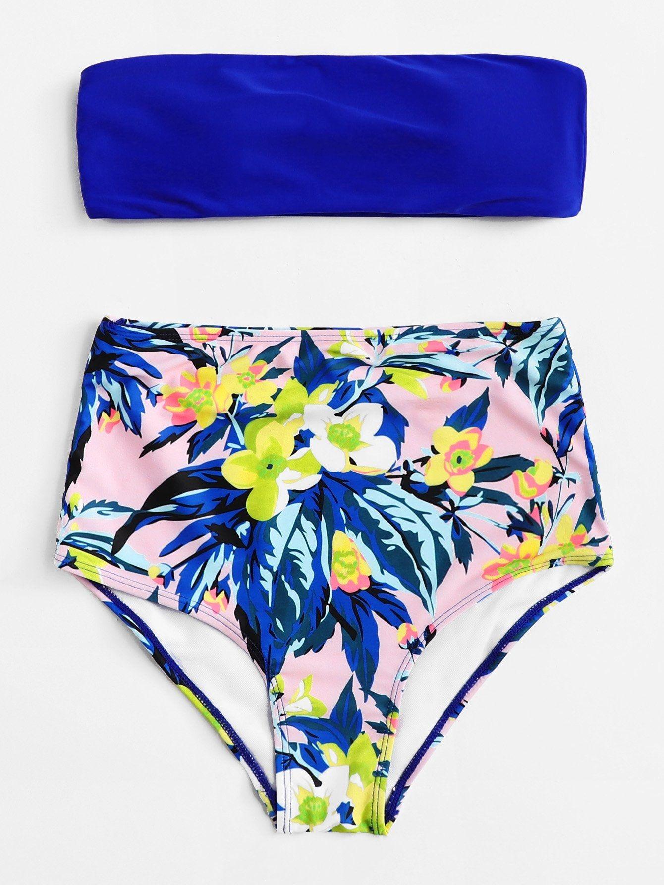 997238b6af82b SHEIN Floral Print High Waist Bikini Set Price in Egypt | Jumia ...