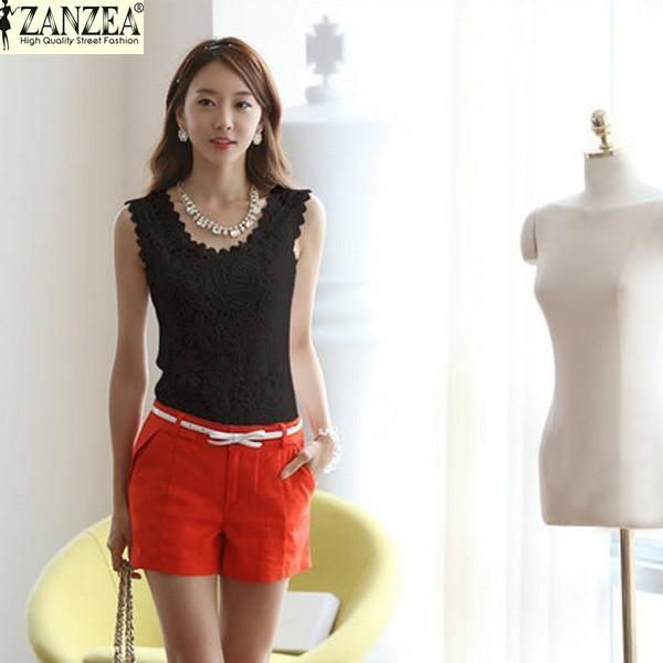23efea3fcab ZANZEA ZANZEA Plus Size S-4XL Womens Lace Tank Top Sleeveless T ...