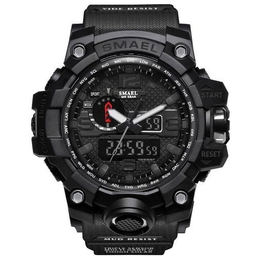7d65ac550 Smael SMAEL Men's Sports Watch Outdoor Waterproof Watch Double Electronic Quartz  Movement - Black