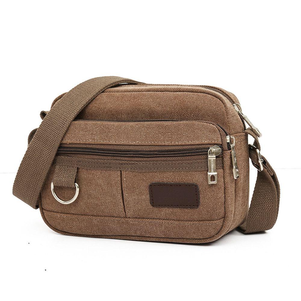 ae44c89fb88 Neworldline Men s Travel Bags Cool Canvas Bag Fashion Men Messenger Bags  Shoulder Bags CO-Coffee