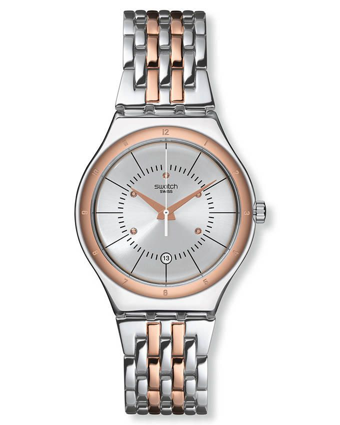 75670eec50bc2 سعر Swatch YWS404G Stainless Steel Watch – Silver Rose Gold فى مصر ...