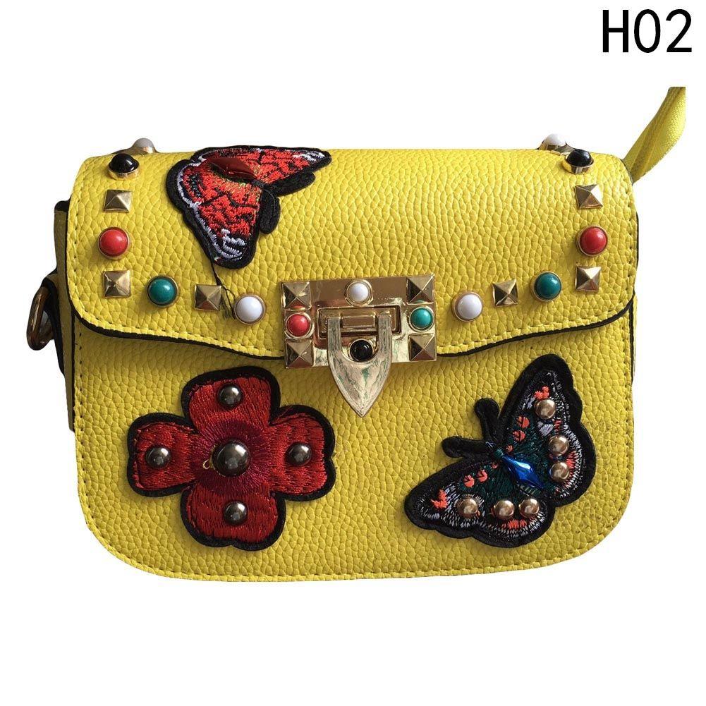 71d231054a6d Fashion New Fashion Women Studded Rivet Purse Bag Pu Leather Handbag ...