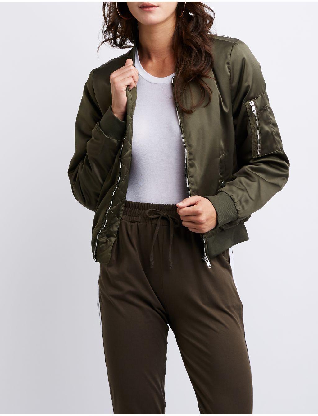 b0482d2fd61 Charlotte Russe Plus Size Faux Fur Bomber Jacket