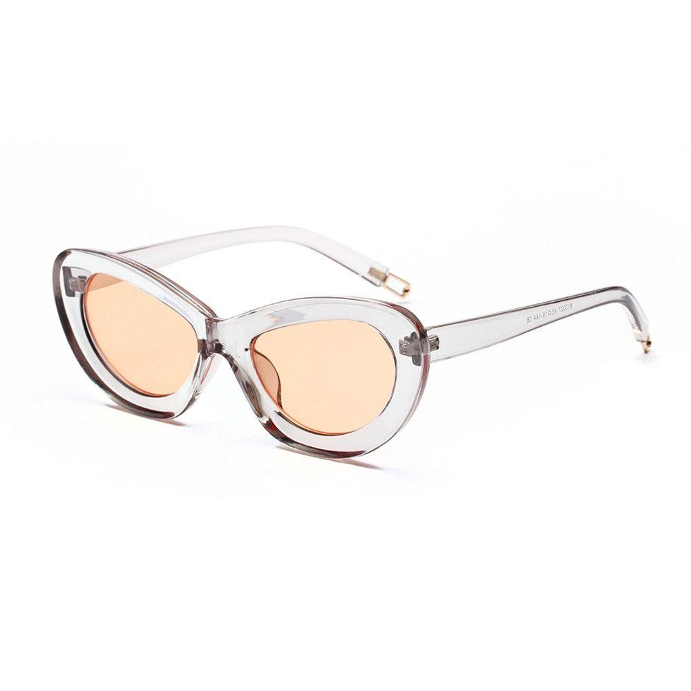 404943ec80 Generic Mens Womens Small Frame Cat Eye Oval Retro Vintage Sunglasses  Eyeglasses