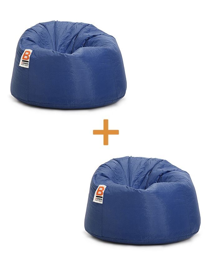 Awesome Bomba Bubbly Bean Bags Water Proof 2 Pcs Dark Blue Gmtry Best Dining Table And Chair Ideas Images Gmtryco