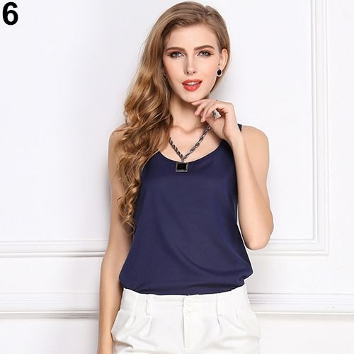 98b1089fdb08 Sanwood Fashion Women Sexy Summer Casual Chiffon Vest Tops Tank ...