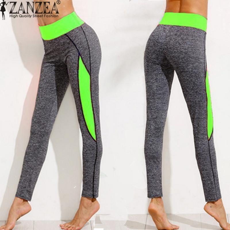74b317872 ZANZEA ZANZEA High Waist Women Lady Activewear Legging Winter Slim ...