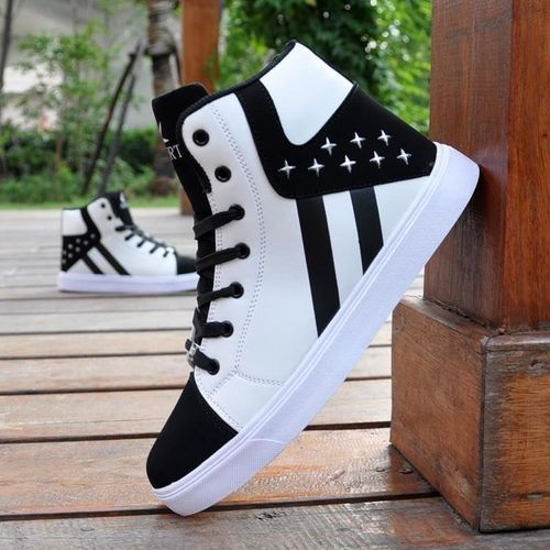 ed028182b Fashion Fashion Men Warm Casual Canvas High Top Loafers Shoes Ankle Boots  Sneakers Shoes WHITE