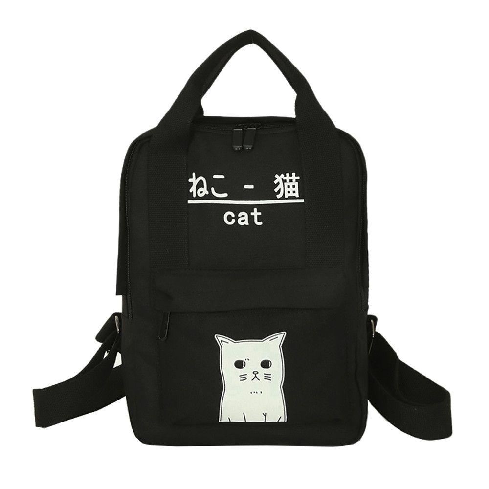 Neworldline Women Teenage Girl Boy Zipper Backpack School Bags ... 16c64ba982981