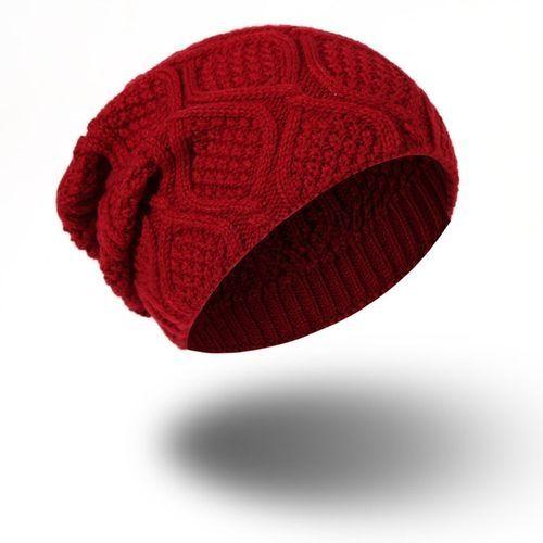3e0bc40d824 Eissely Unisex Men Women Warm Winter Knit Baggy Beanie Hat Ski Slouchy Head  Cap RD