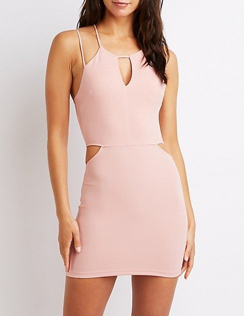 cf99aae6959 Charlotte Russe Strappy Cut-Out Bodycon Dress Price in Egypt