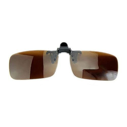 e7c24ec6ba623 Sanwood Polarized Lens Anti Glare UV Block Clip-on Flip-up Driving  Glasses-Brown