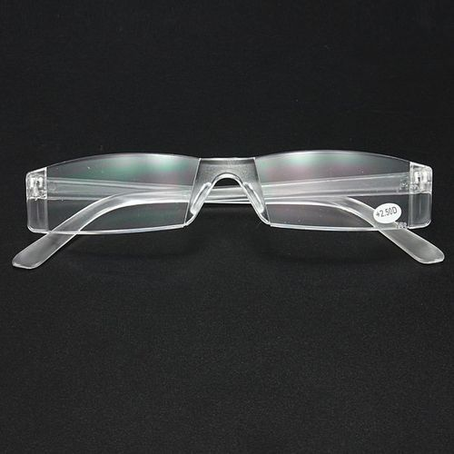 6d82f87eb1 Fashion Clear Rimless Reading Glasses 1.00 To 4.00 Diopter +2.5 (Clear)