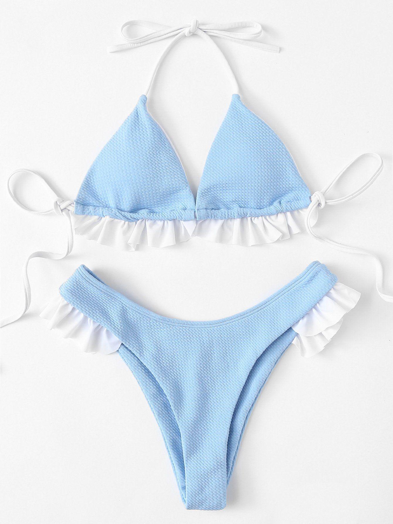 038b732698 SHEIN Ruffle Hem Bikini Set Price in Egypt | Jumia | Swimwear | kanbkam