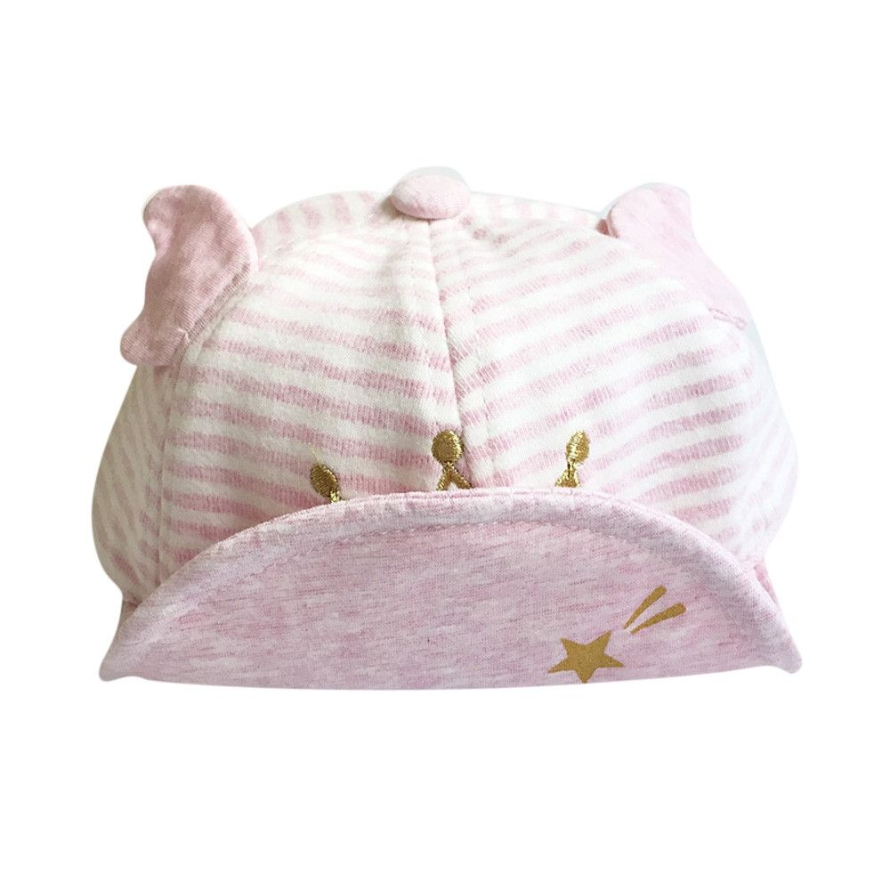 36701fd6795 Eissely Child Kid Baby Crown Striped Soft Brim Flanging Sun Hat Baseball  Peaked Cap