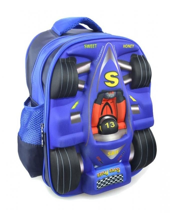 98ca4319b8c8 Buy Gifts and More 3D Racing Car Backpack   Blue - 13 inch in Egypt