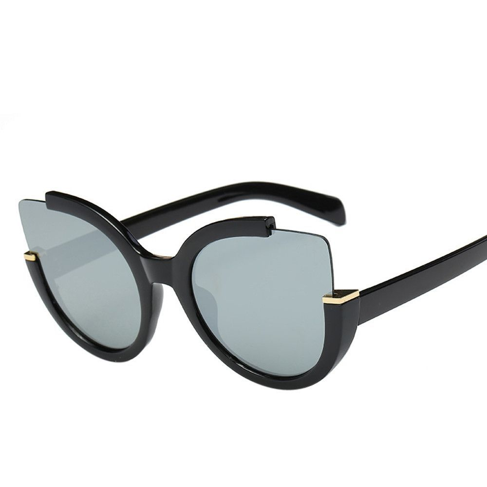 3dbcbd73b Duoya Women Men Vintage Retro Glasses Unisex Fashion Aviator Mirror Lens  Sunglasses - Black