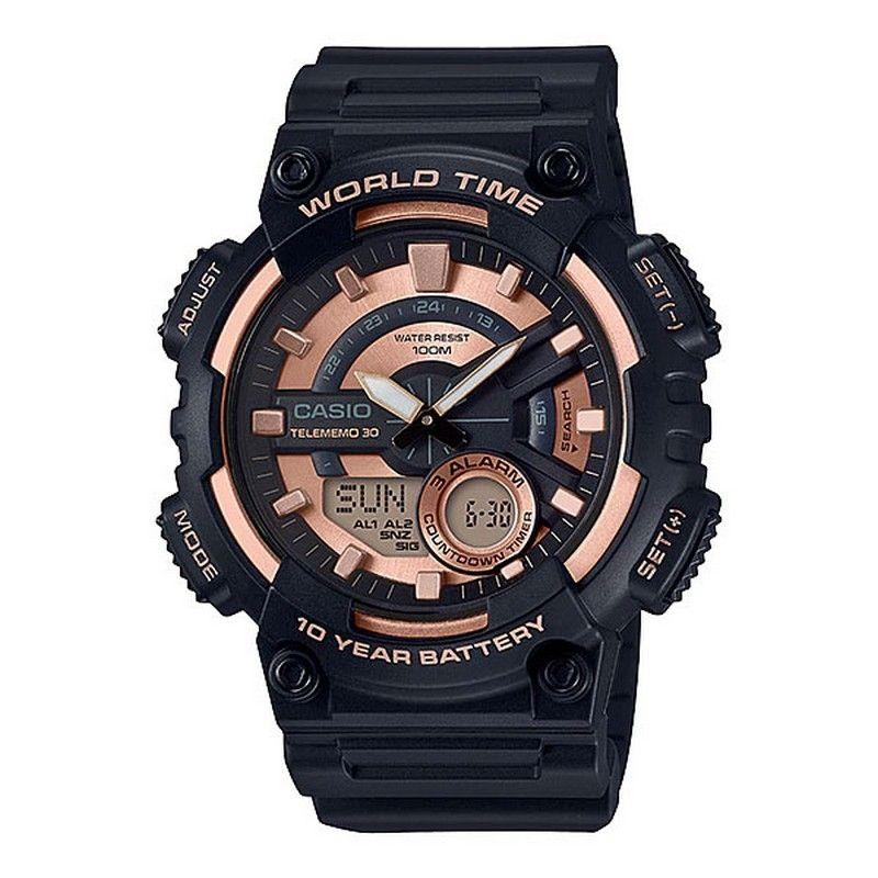 572773cbd0ed4 Casio Rubber BlackWatch For Men - AEQ-110W-1A3VDF. 1
