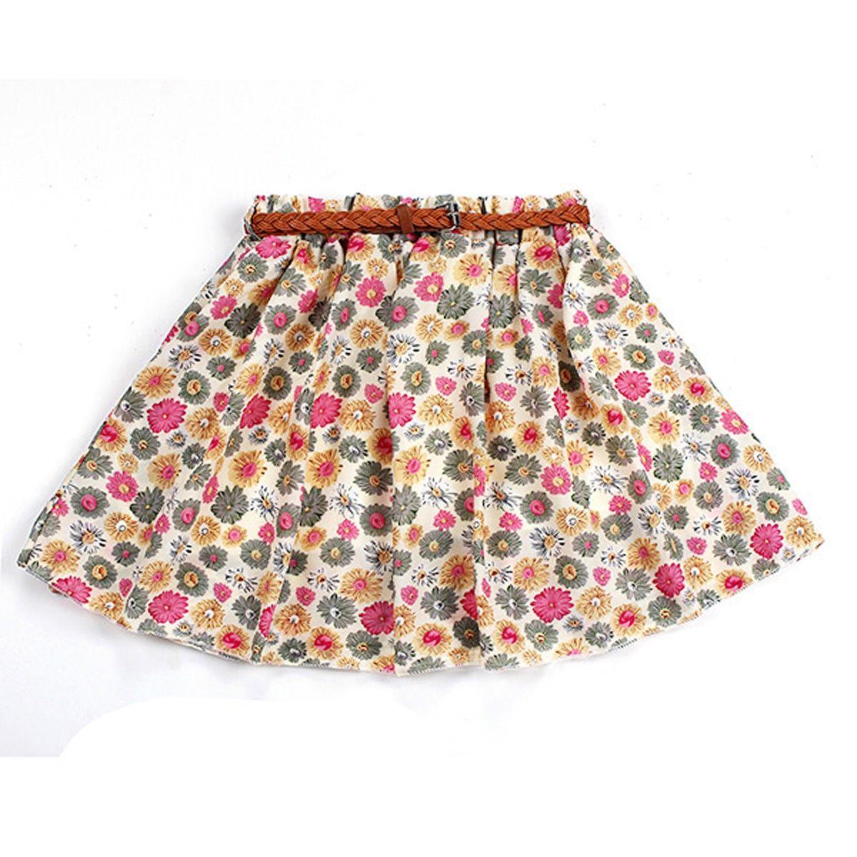cb195cc07 Buy ZANZEA ZANZEA Ladies Short Mini High Waist Skirt Women Flared Pleated  Skirts Dress Pink Flower