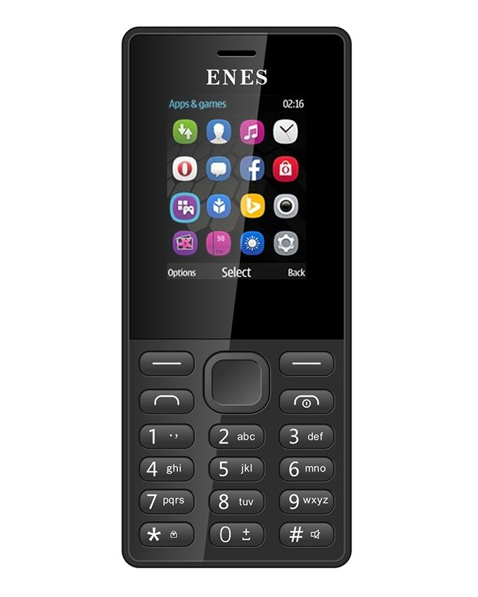موبايل E3010 - ثنائي الشريحة - شاشة 1.8 بوصة - أسود