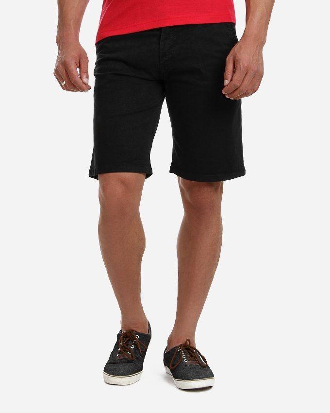Andora Solid Cotton Short - Black