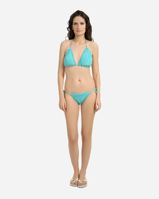 Agu Crochet Handmade Bikini Swimsuit - Turquoise