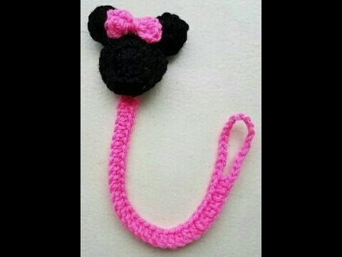 Generic Crochet Minnie Mouse Pacifier Clip Babies Essentials