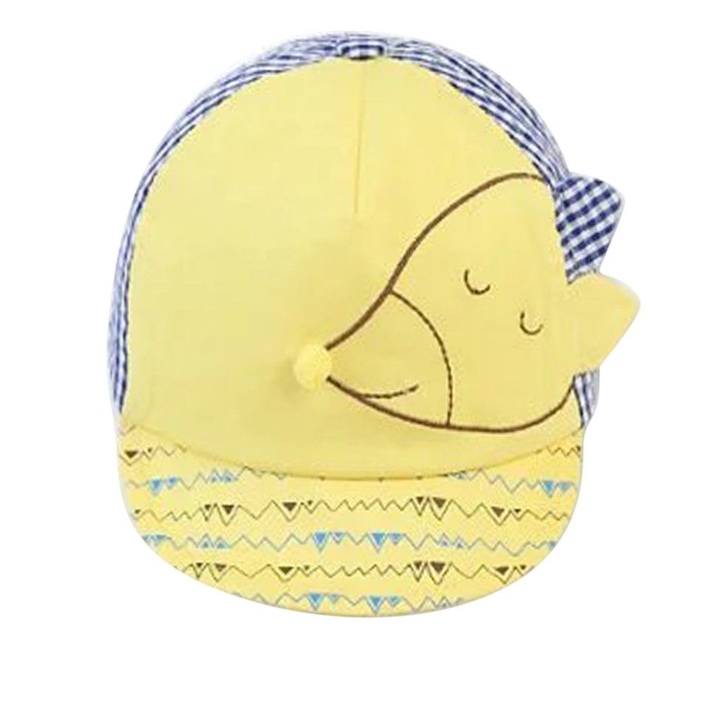 211a14a7be2 Eissely Child Kid Baby Fox Design Stripe Soft Brim Flanging Sun Hat  Baseball Peaked Cap