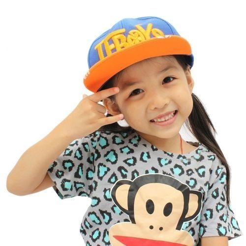 cf05bcd5120 Fashion Baby Boys Girls Kids Baseball Cap Peaked Visor Snapback Adjustable  Hip Hop Hat Royal Blue+Orange(Brim)