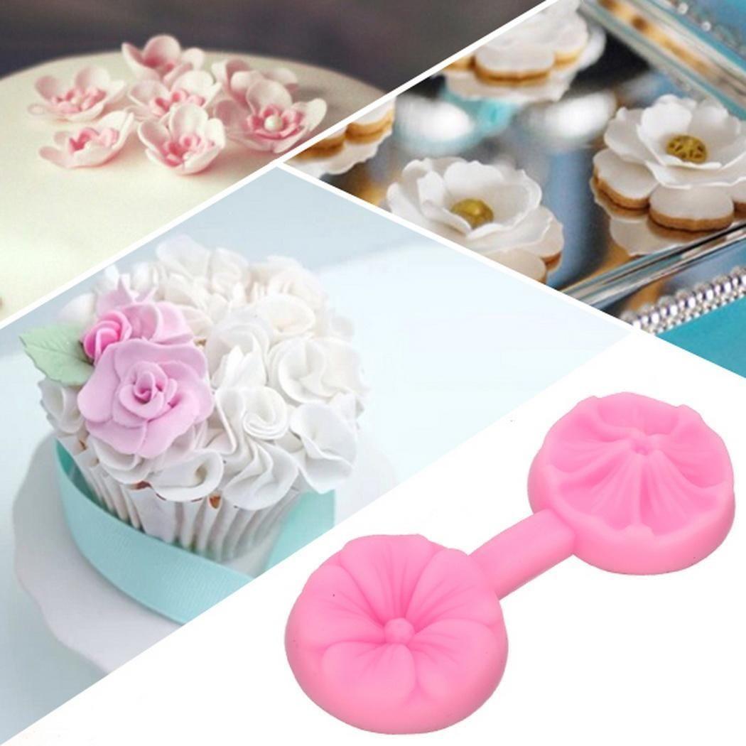 Sunweb Silicone Flower DIY Cake Mould Sugar Craft Tools Fondant Decorating Baking Mold Mould