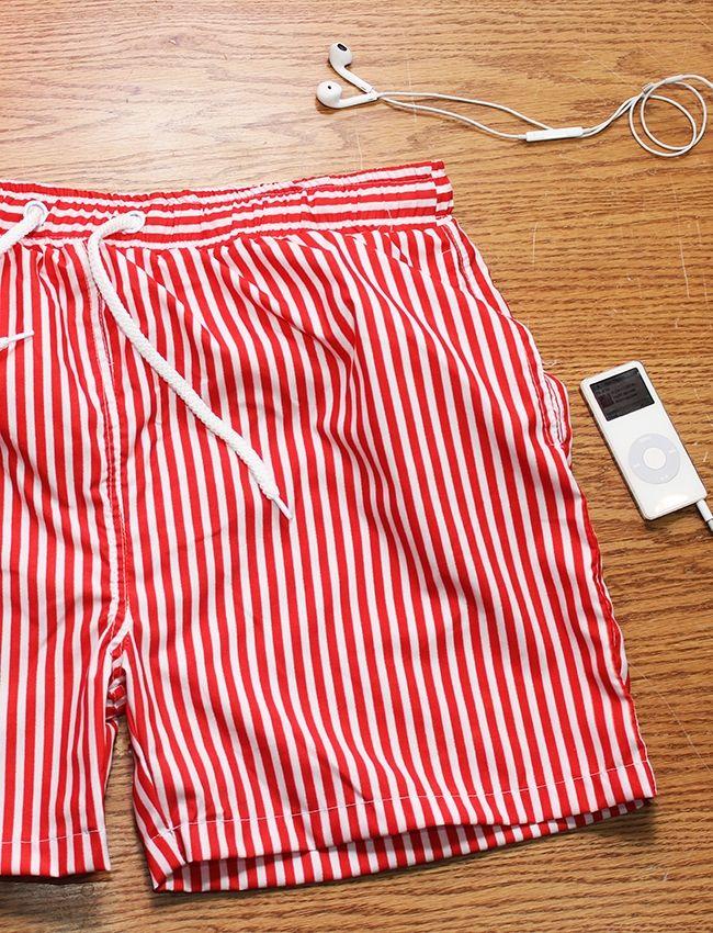Minimum  Striped Swimtsuit - Red