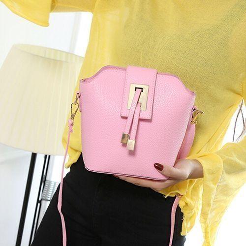 7f505c955eb15 Siketu Women Fashion Handbag Shoulder Bag Tote Ladies Purse PK- Pink