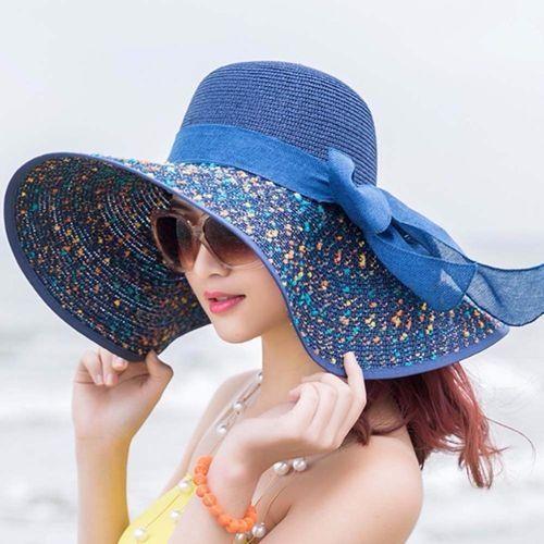d4ccd98b4708f Fashion Elegant Fashion Seaside Sun Visor Hat Female Summer Sun Hats ...