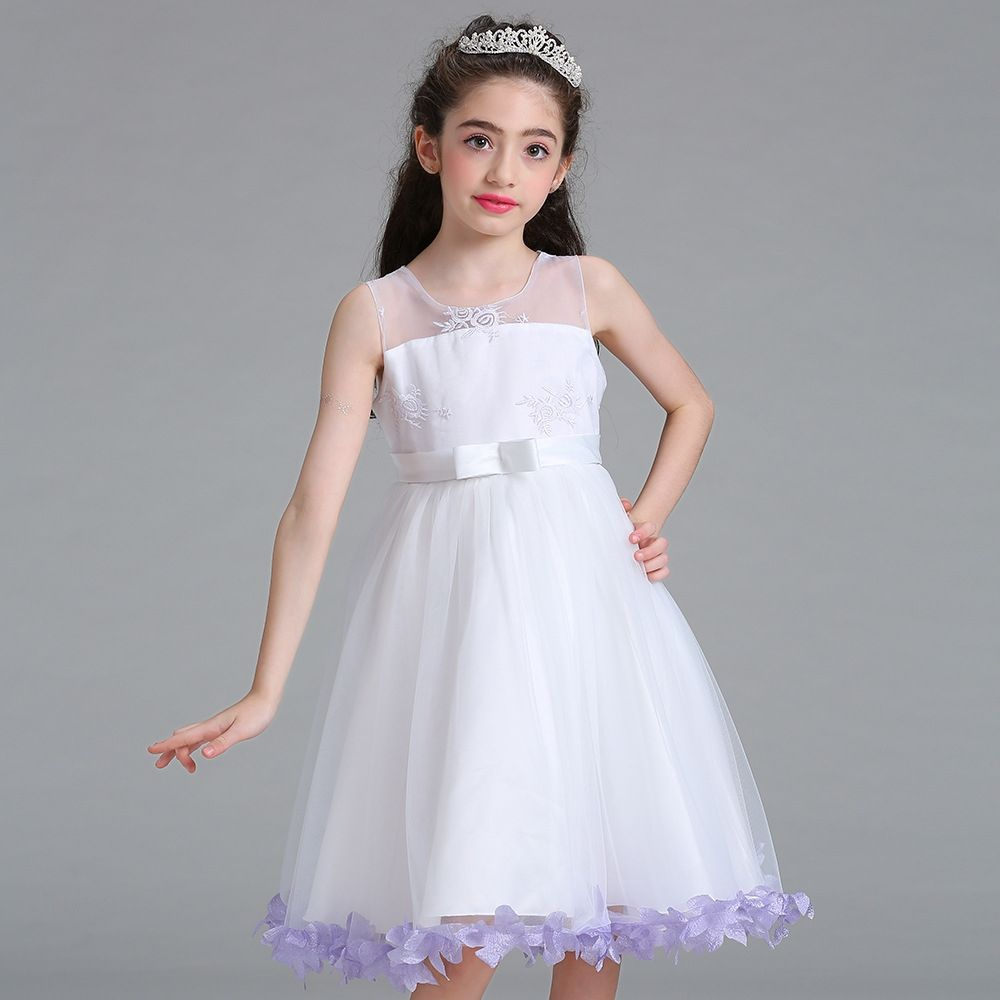 8deaac94a2fd Generic Girls Princess Dress children wedding flower girl dress ...