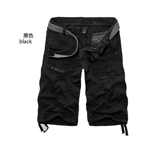 Mens Casual Cotton Multi-pocket Cargo Pants Shorts Overalls Trouser Oversize G1