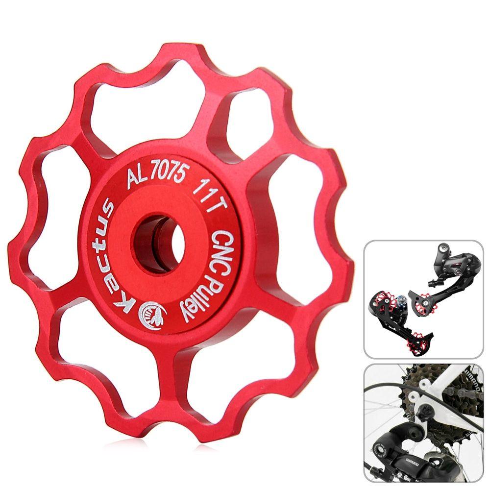 Generic Kactus Jockey Wheel Rear Derailleur 11T CNC Pulley For SHIMANO SRAM / 7 / 8 / 9 / 10 Speed-RED