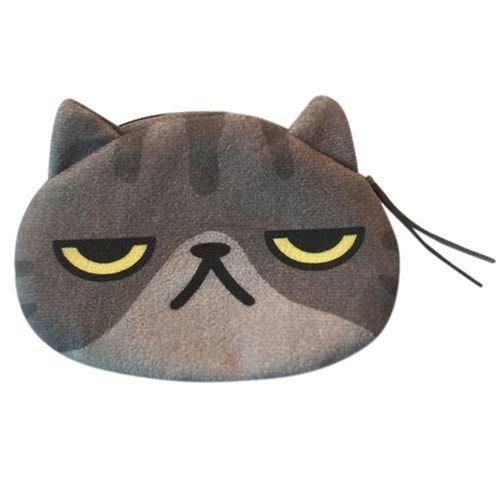 d61a6da56 Generic Women Cute Print Cat Face Girl Plush Coin Purse Change Purse Bag  Wallet